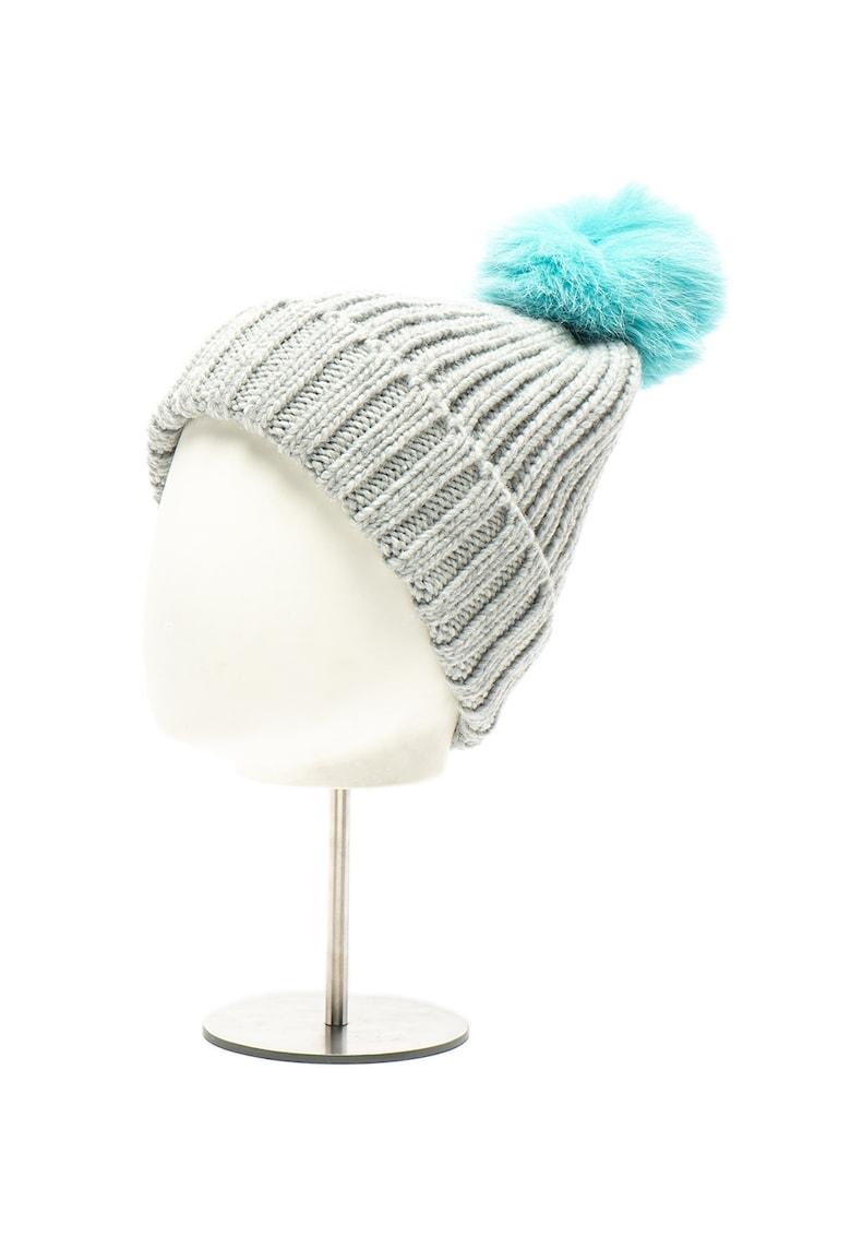 COCCINELLE Caciula tricotata - din amestec de lana - cu ciucure Cuffia