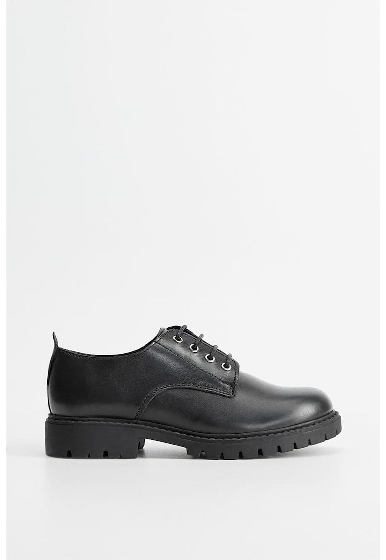 Pantofi derby din piele Chris poza fashiondays