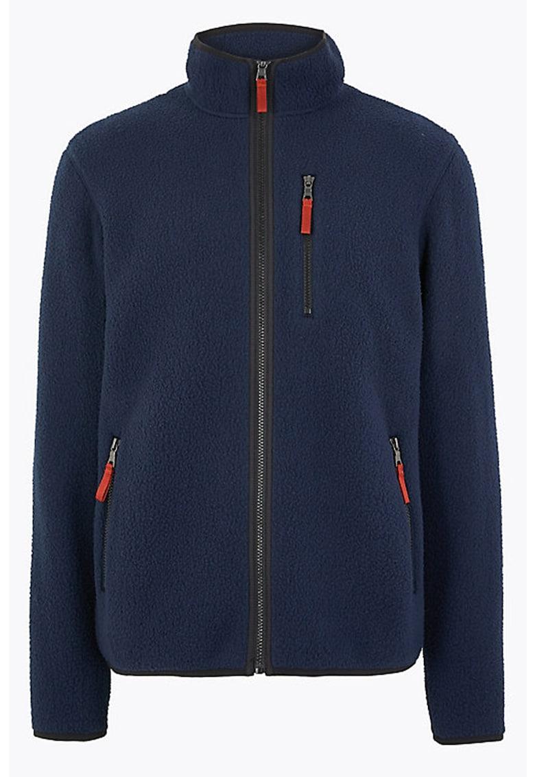Bluza sport din fleece - cu fermoar