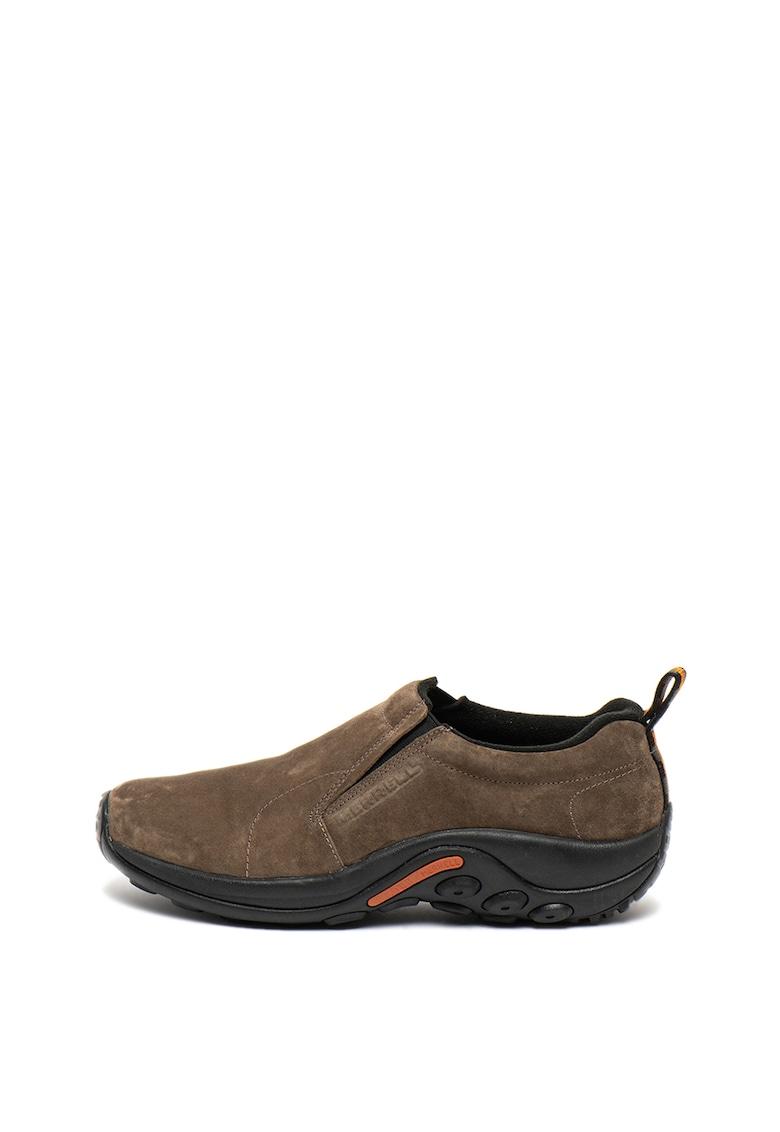Pantofi sport slip-on de piele intoarsa Jungle Moc