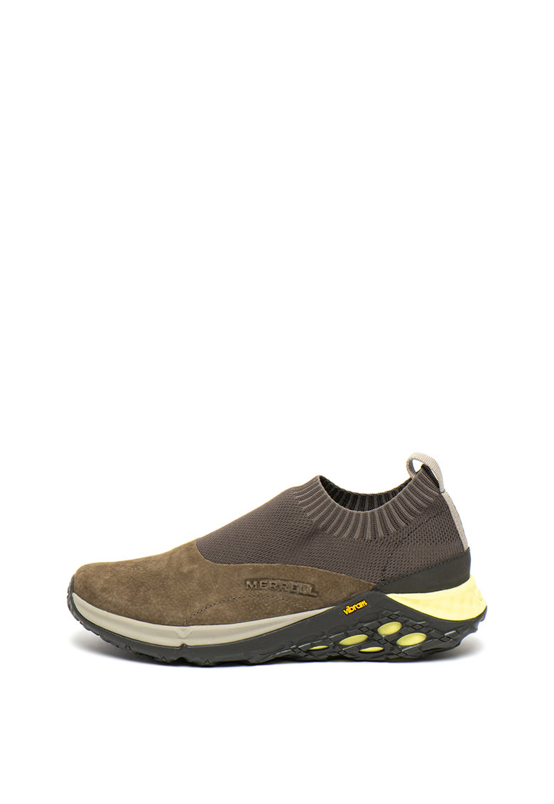 Pantofi sport slip-on de piele intoarsa - cu insertii din material textil Jungle Moc XX