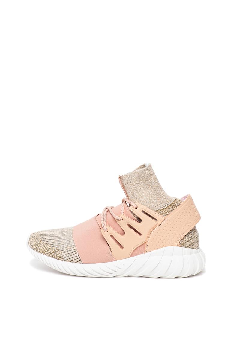 Pantofi sport slip-on de plasa cu aspect tricotat Tubular Doom