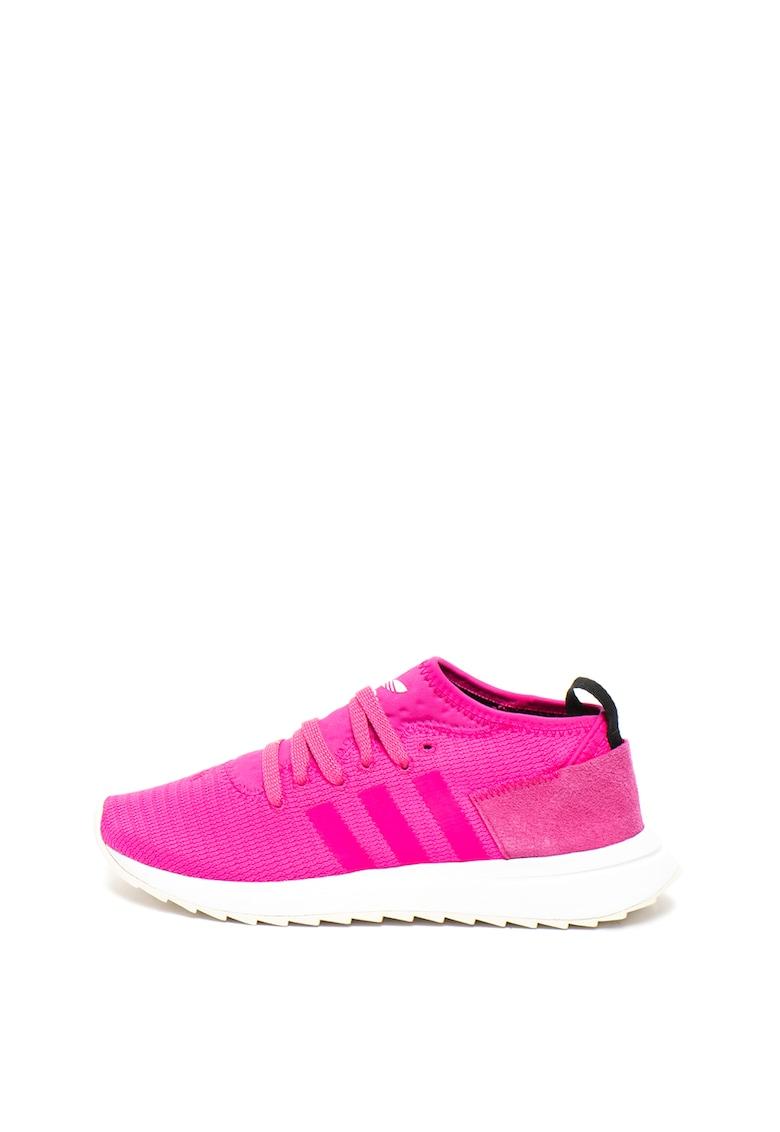 Pantofi de plasa cu garnituri de piele intoarsa - pentru alergare FLB