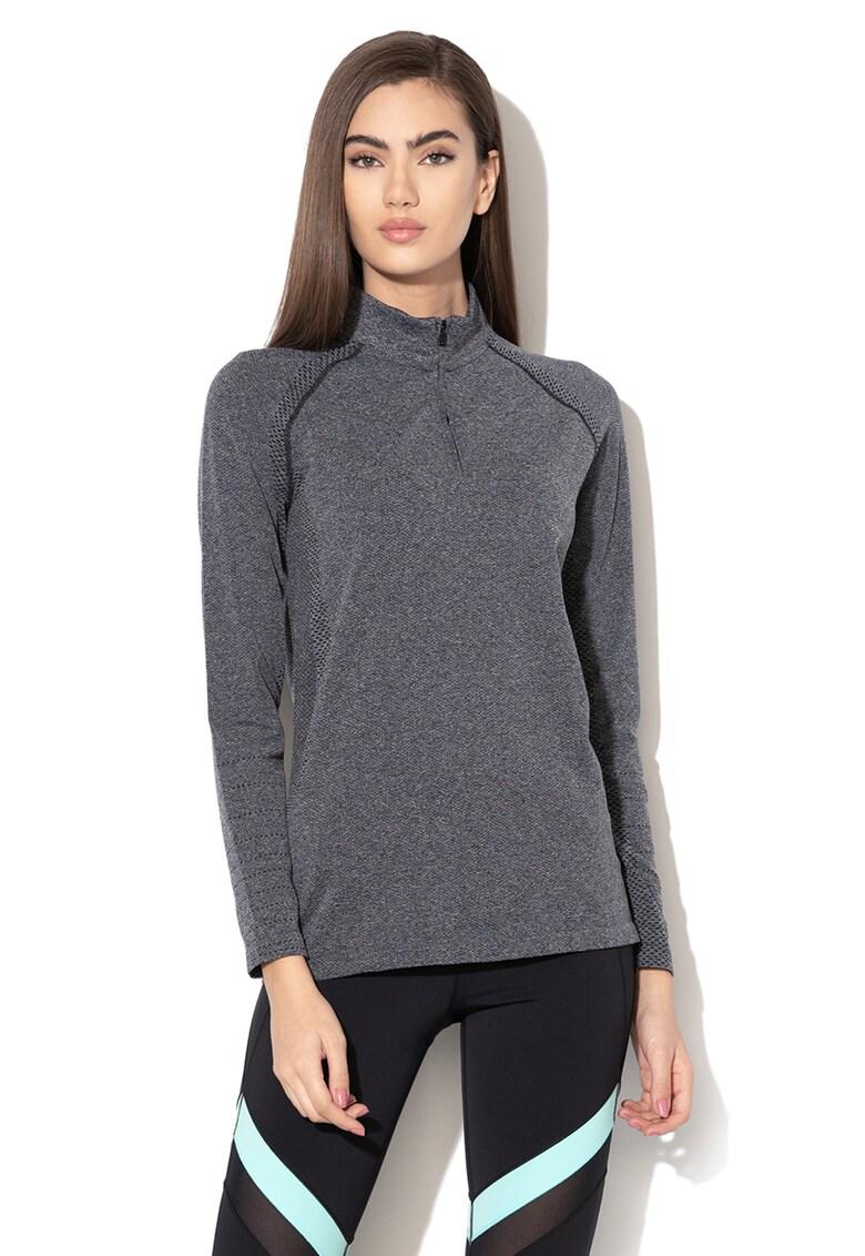 Bluza elastica cu fenta cu fermoar - pentru fitness Threadborne