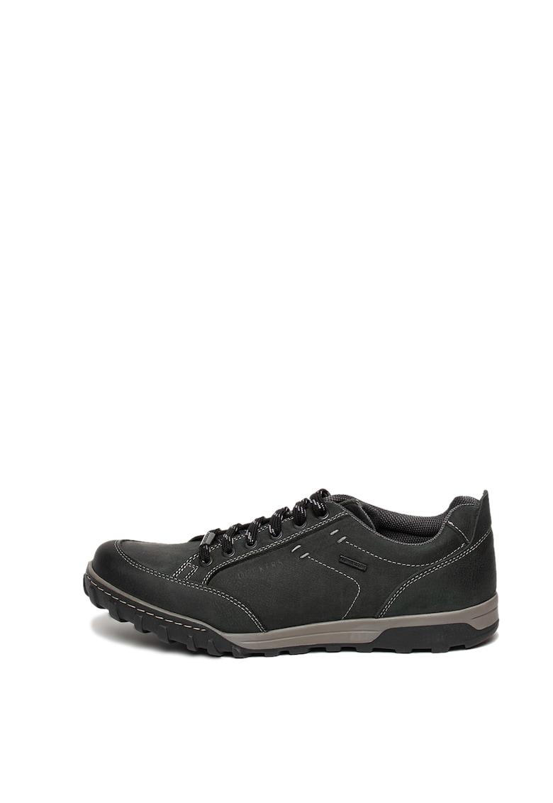 Pantofi sport din piele cu cusaturi decorative