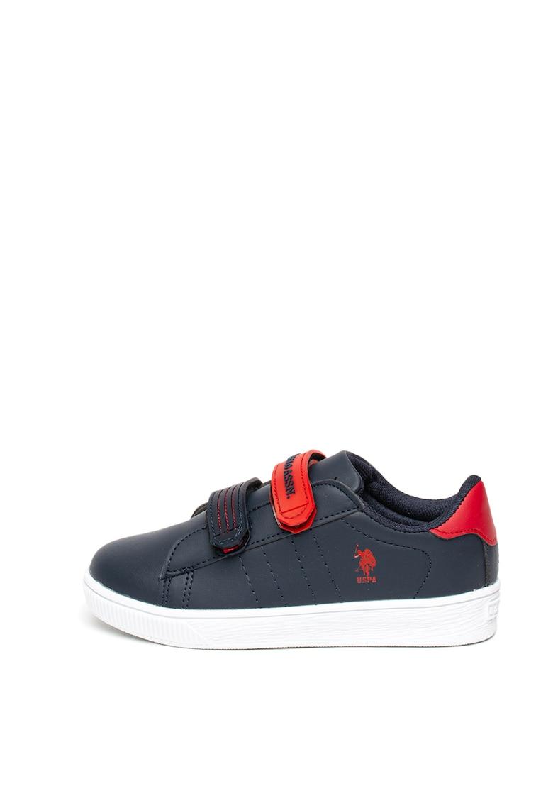 Pantofi sport de piele ecologica - cu velcro Cino