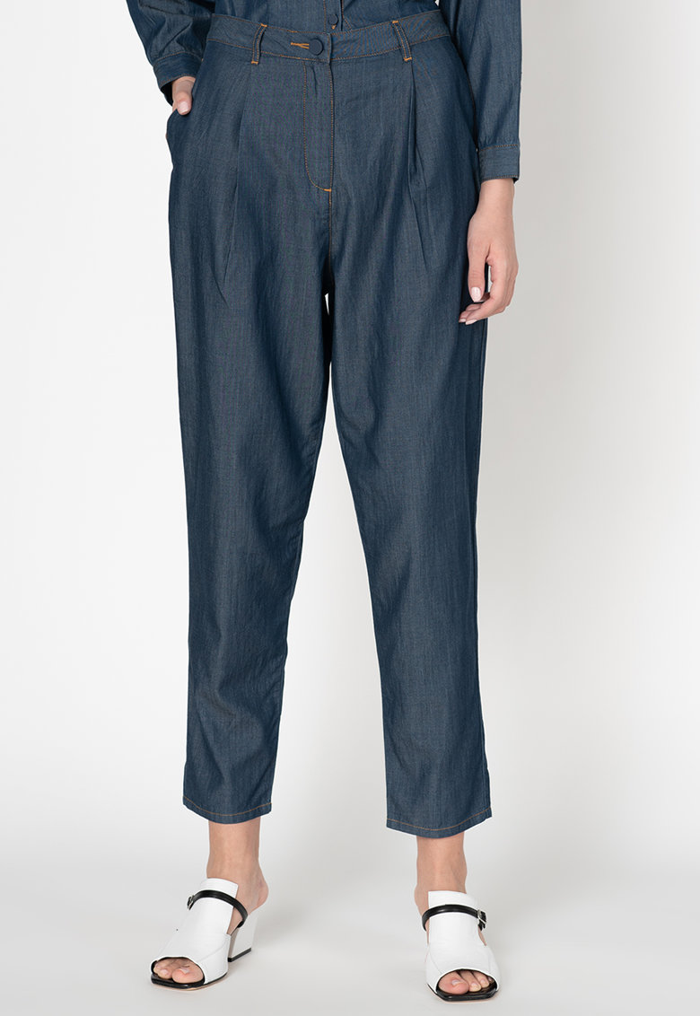 Pantaloni din chambray cu croiala conica Disco imagine promotie