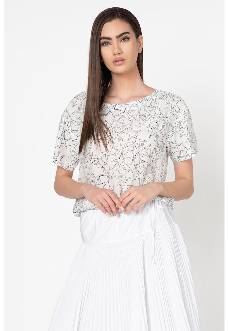 Bluza din amestec de modal cu model cu stele Dispensa imagine