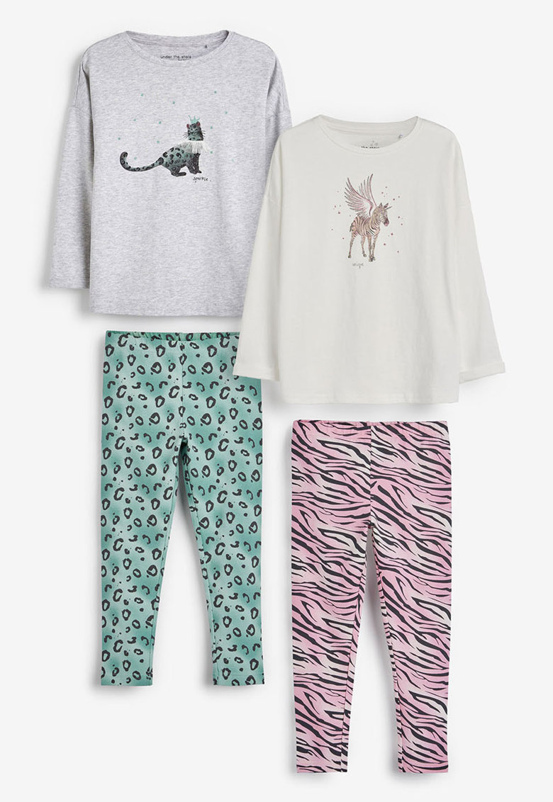 NEXT Set de pijamale cu animal print - 2 perechi