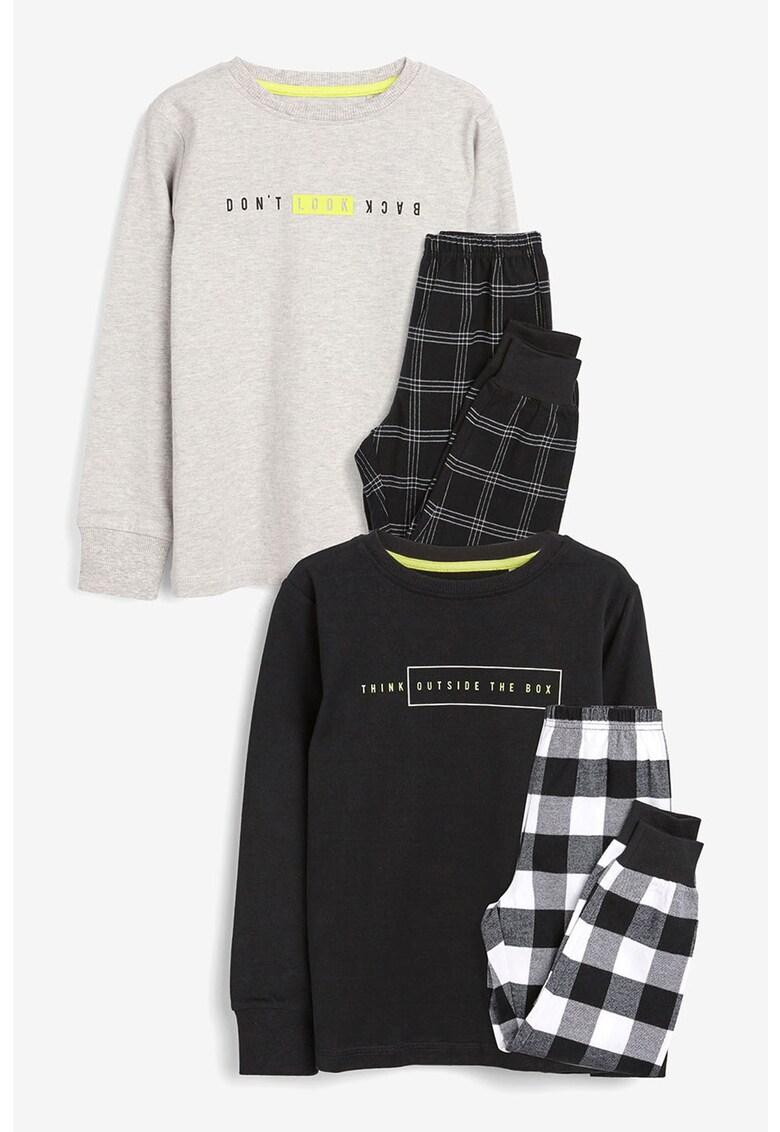 NEXT Set de pijama cu imprimeu - 2 perechi