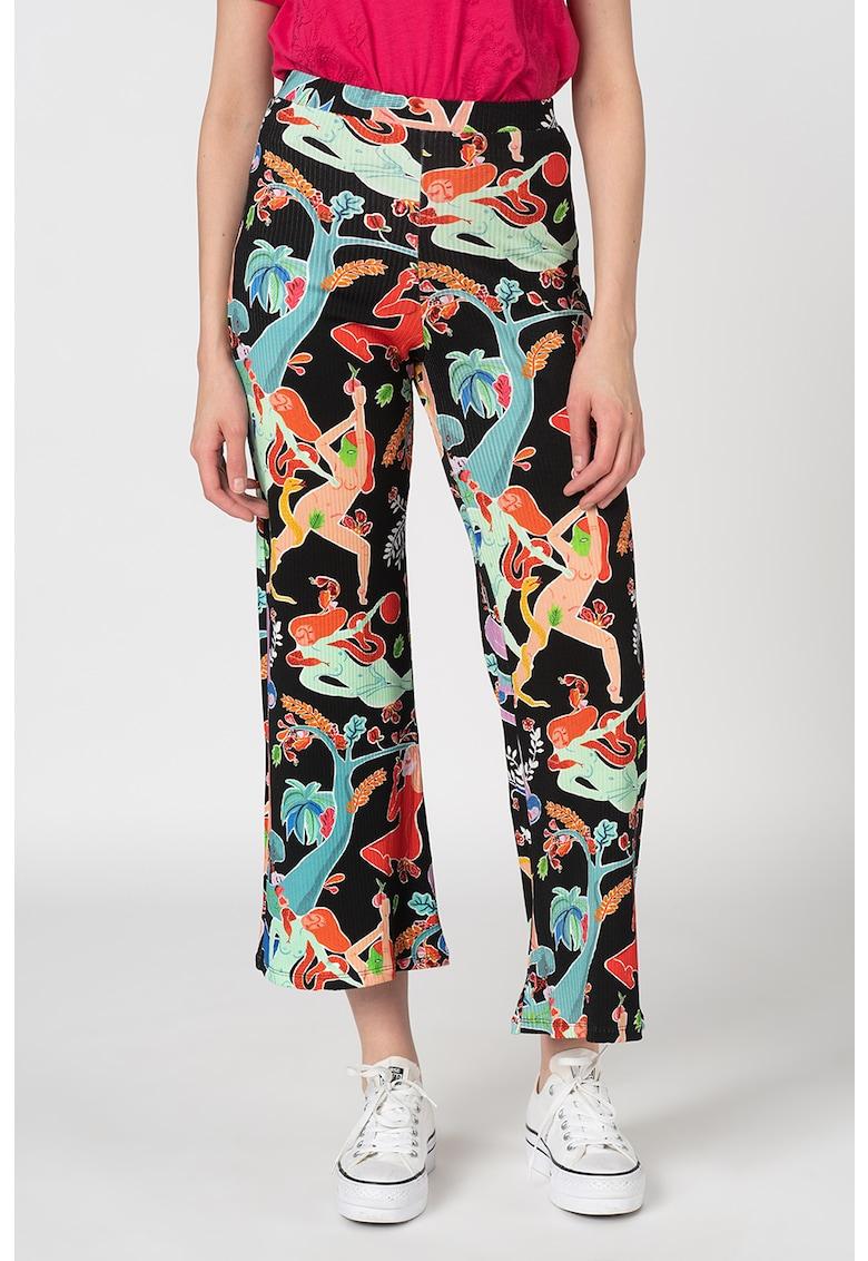 Pantaloni evazati cu imprimeu grafic Masila imagine