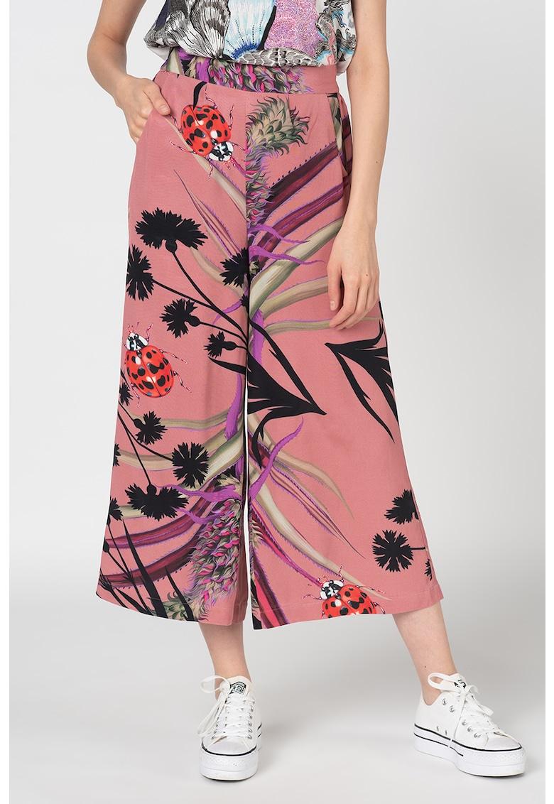 Pantaloni culotte cu imprimeu floral Dorado