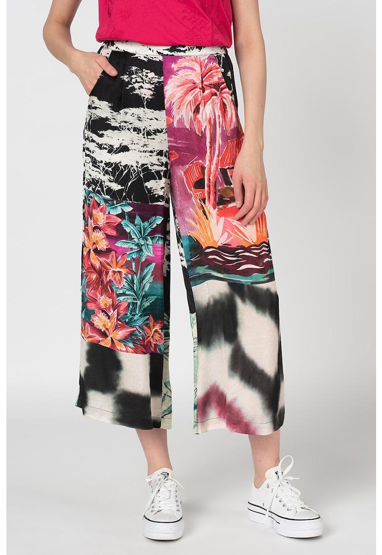 DESIGUAL Pantaloni culotte cu model floral Tripoli