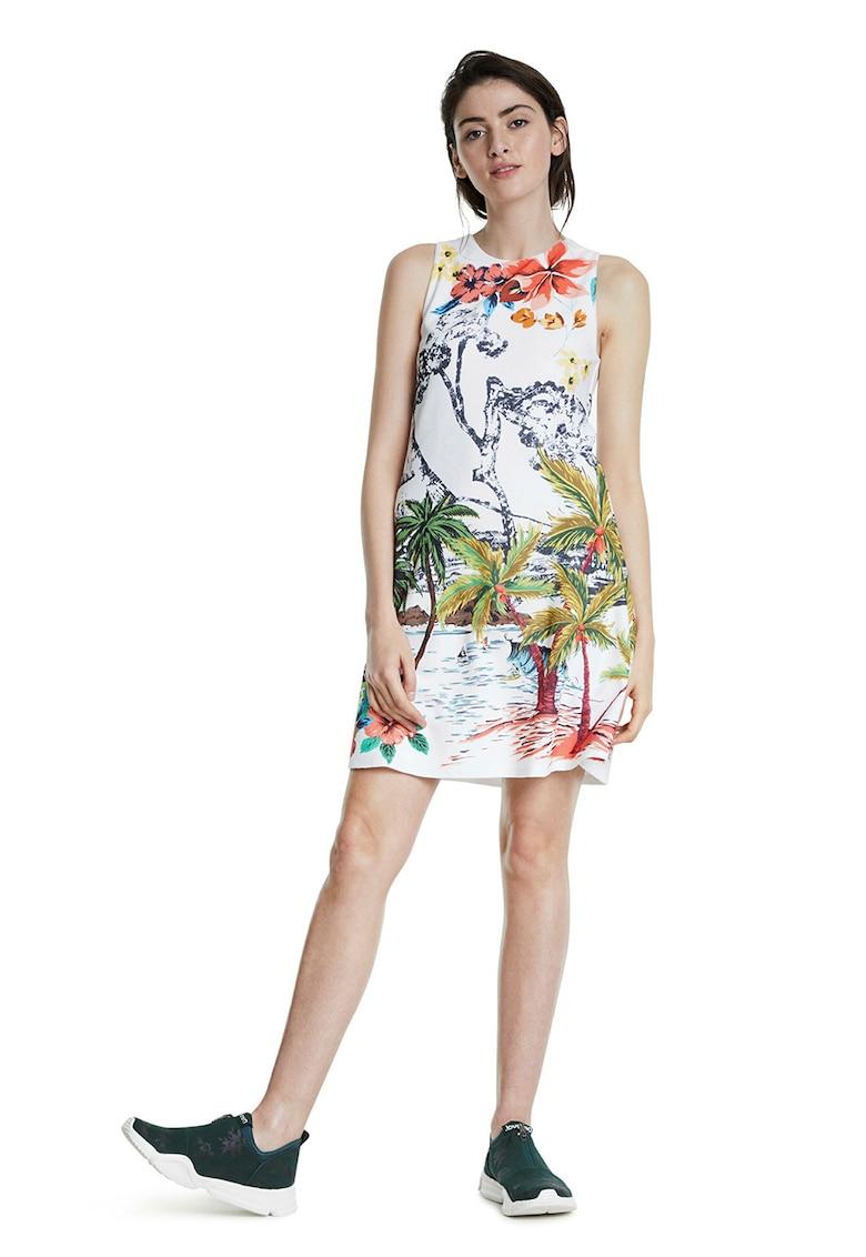 Rochie cu imprimeu tropical