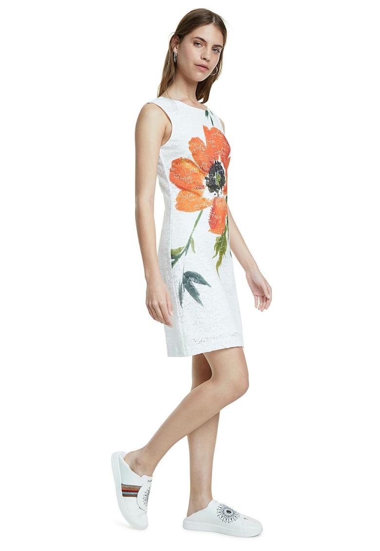 Rochie din dantela cu imprimeu floral