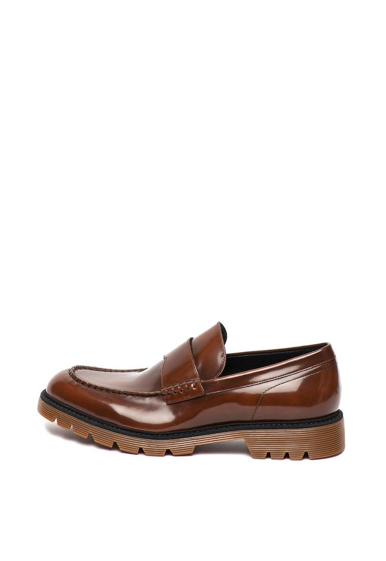 Pantofi loafer penny de piele lacuita Ferran