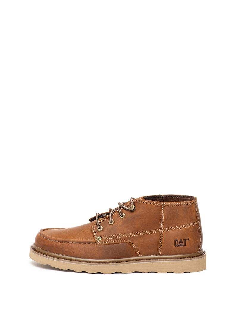 Pantofi casual de piele cu cusaturi contrastante Larsen