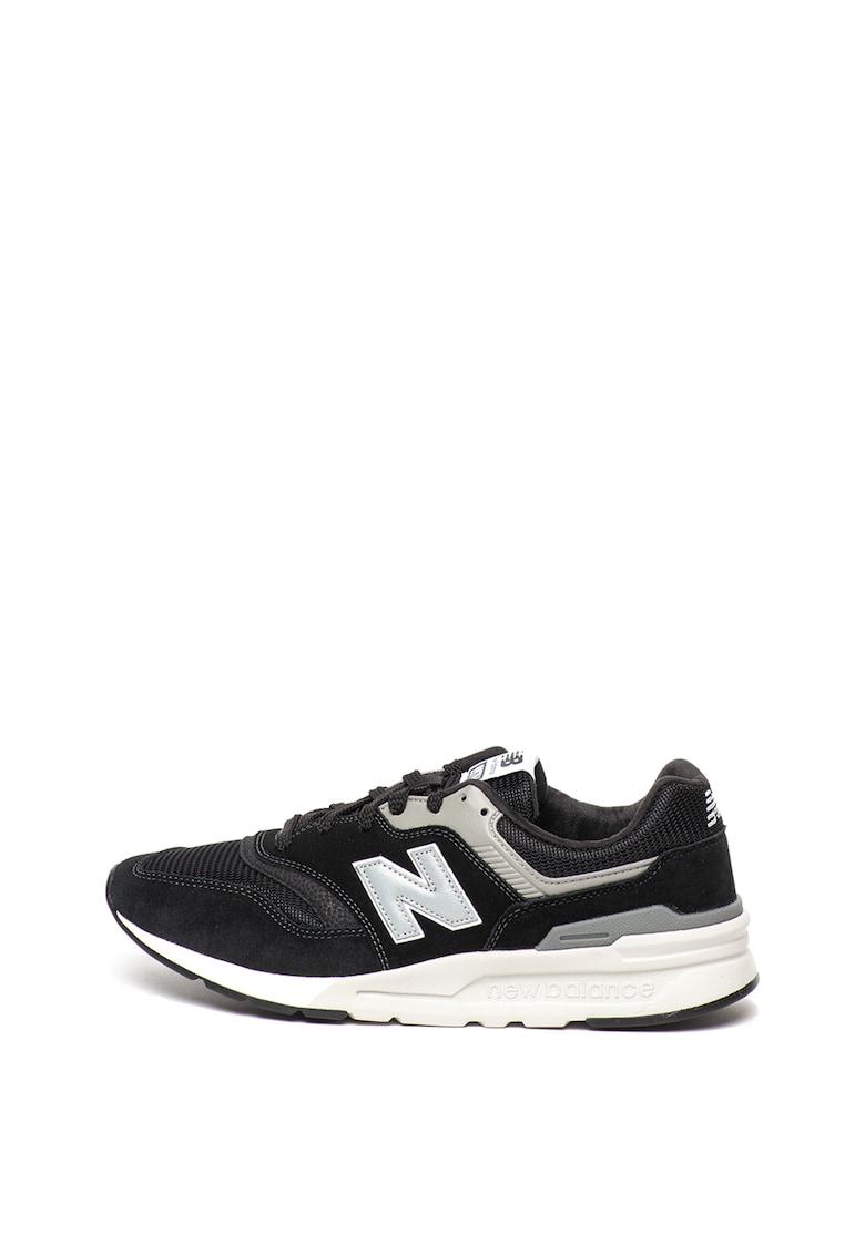 Pantofi sport cu garnituri de piele intoarsa 997H imagine