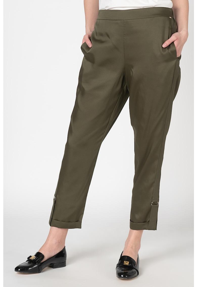 Pantaloni conici din satin Ilaria