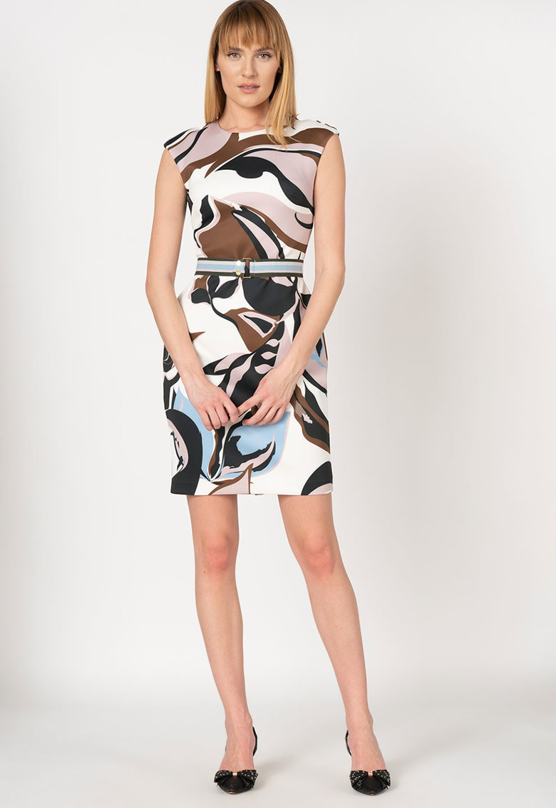 Rochie cambrata cu imprimeu abstract Liziiey Ted-Baker