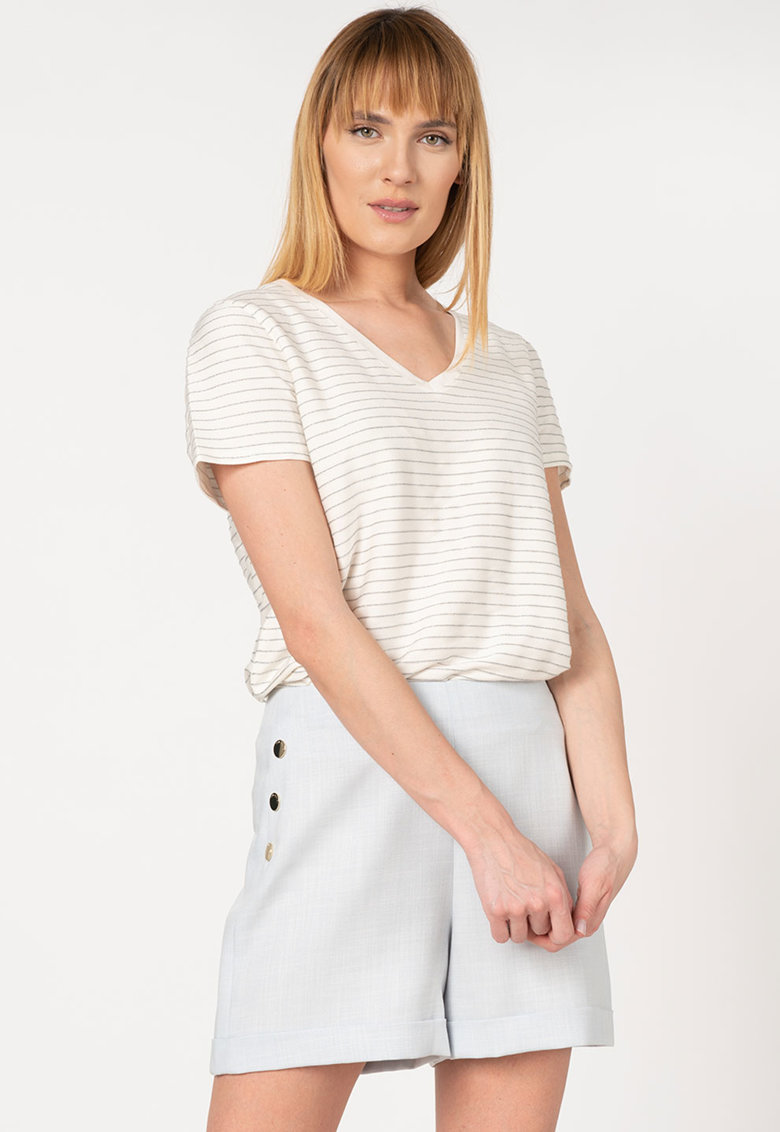 Tricou relaxed fit cu model in dungi Giianai