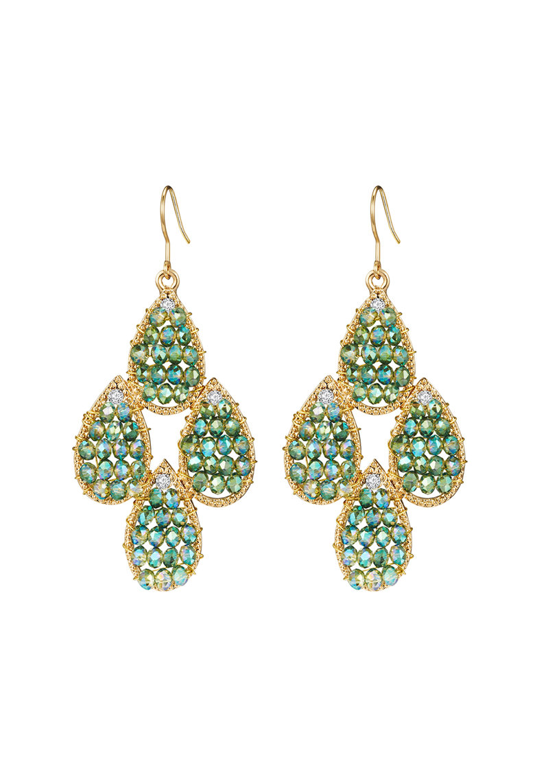 Highstreet Jewels Cercei drop placati cu aur