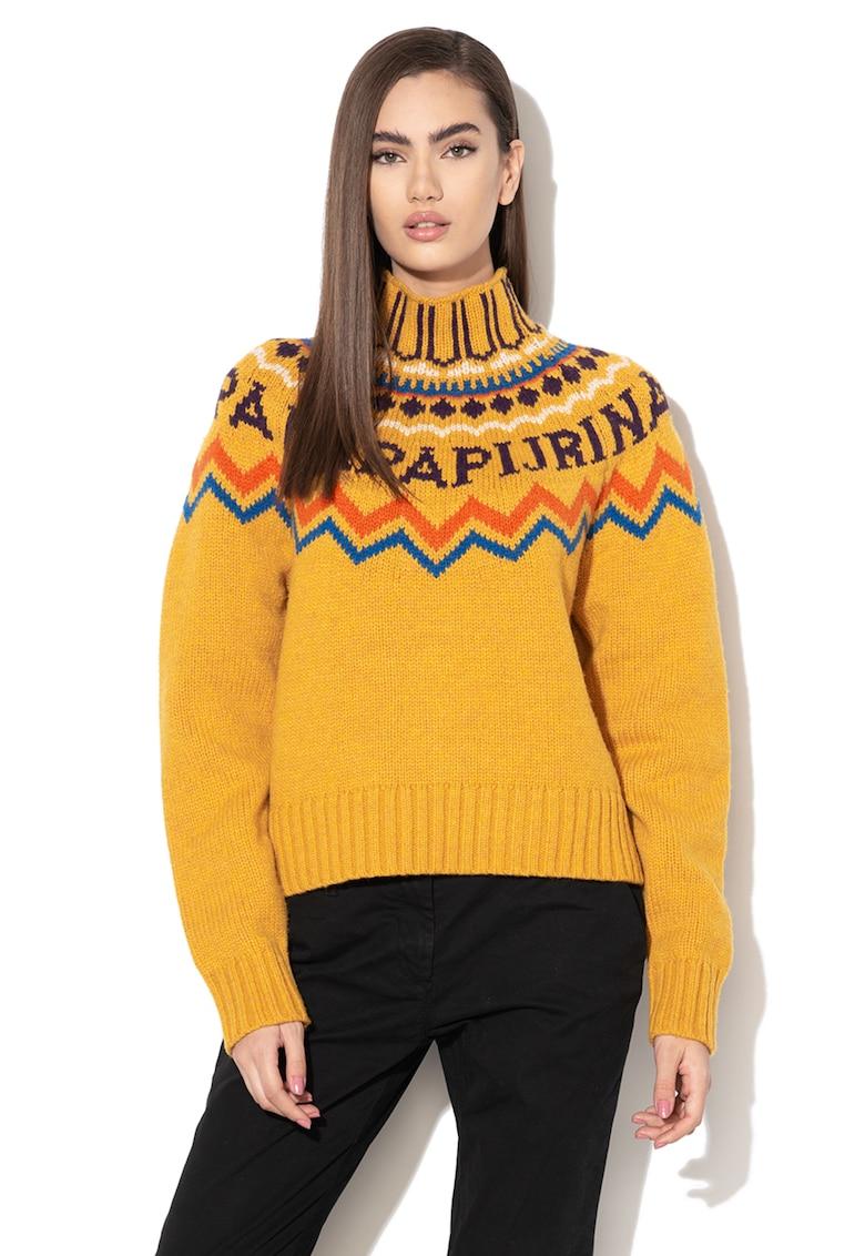 Pulover din amestec de lana - cu guler inalt Dune