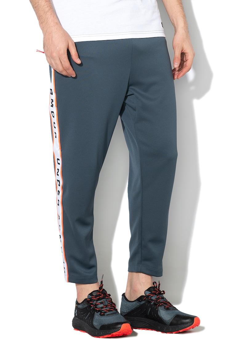 Pantaloni lejeri cu logo contrastant lateral - pentru fitness