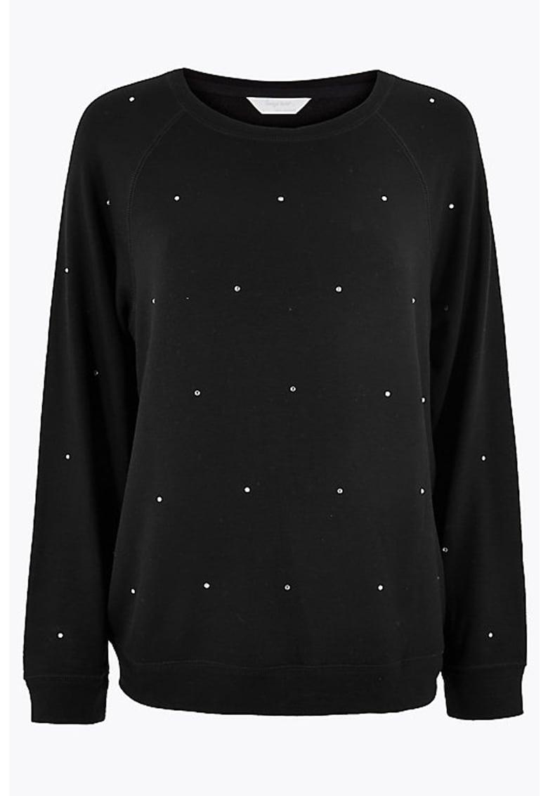 Bluza de pijama cu aplicatii din tinte