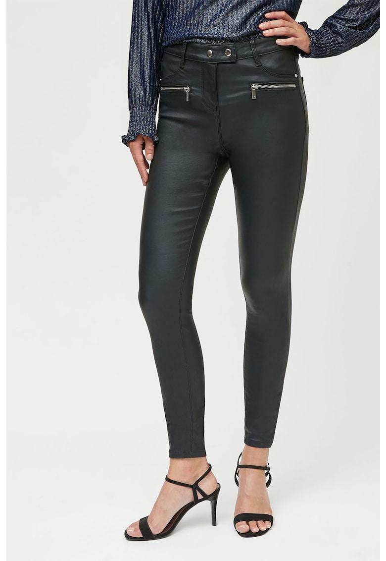 Pantaloni skinny de piele ecologica