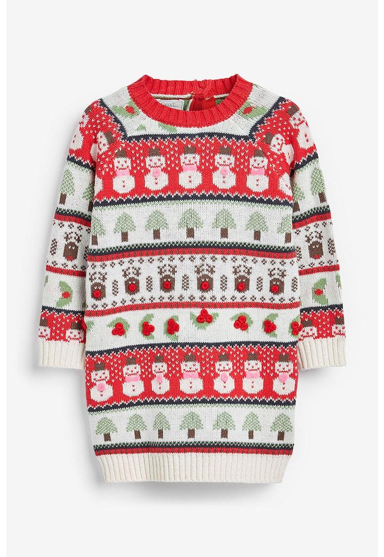Rochie tricotata - cu imprimeu grafic