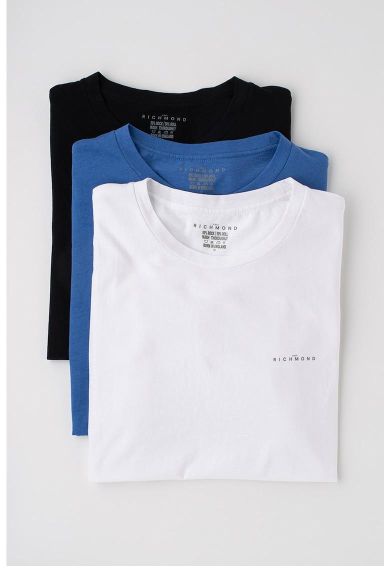 John Richmond Underwear Set de tricouri de casa - cu decolteu la baza gatului - 3 piese