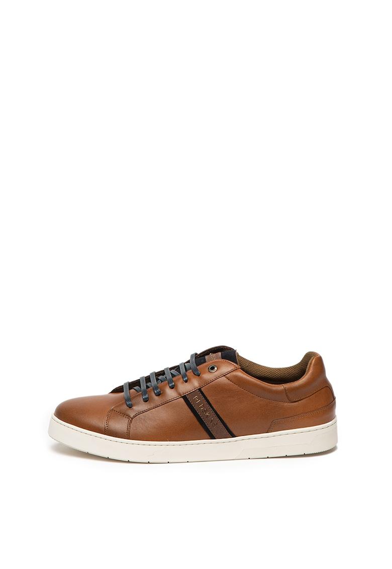Pantofi sport din piele logo Wolon