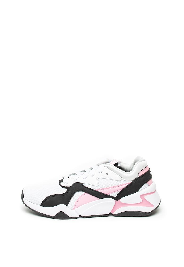 Pantofi sport cu insertii de piele Nova 90 s Bloc imagine