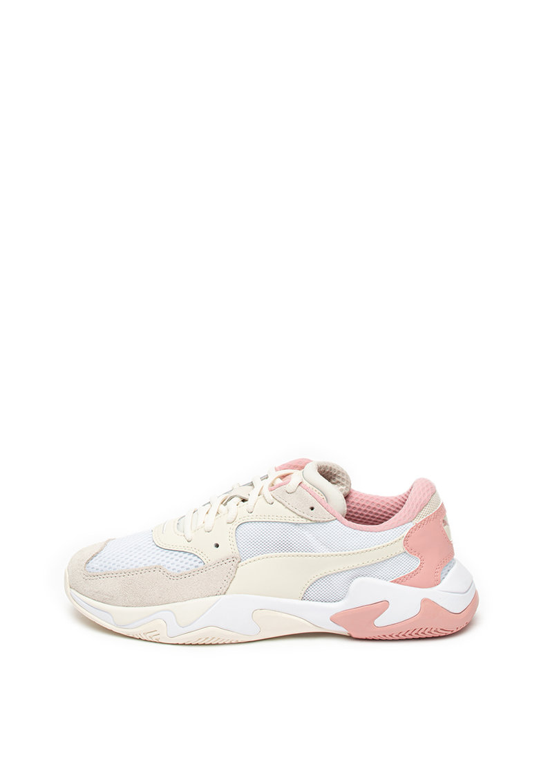 Pantofi sport cu talpa wedge si model colorblock 3