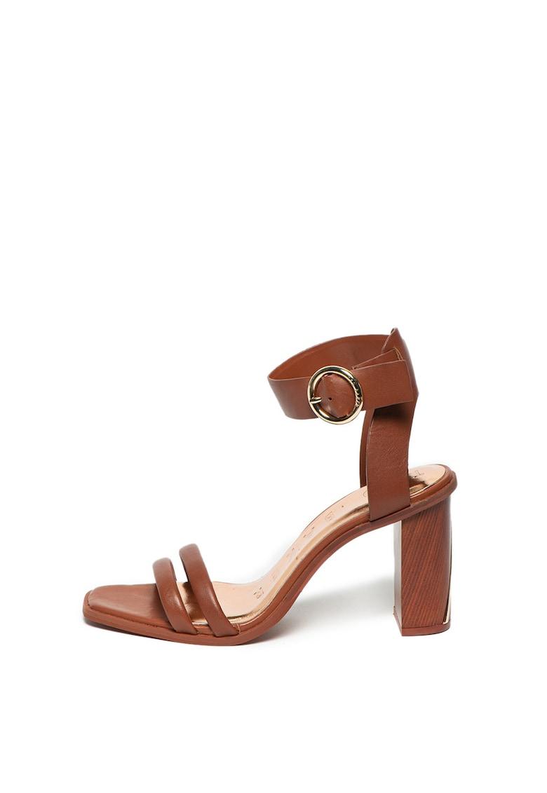 Sandale de piele cu bareta de glezna Elasana poza fashiondays
