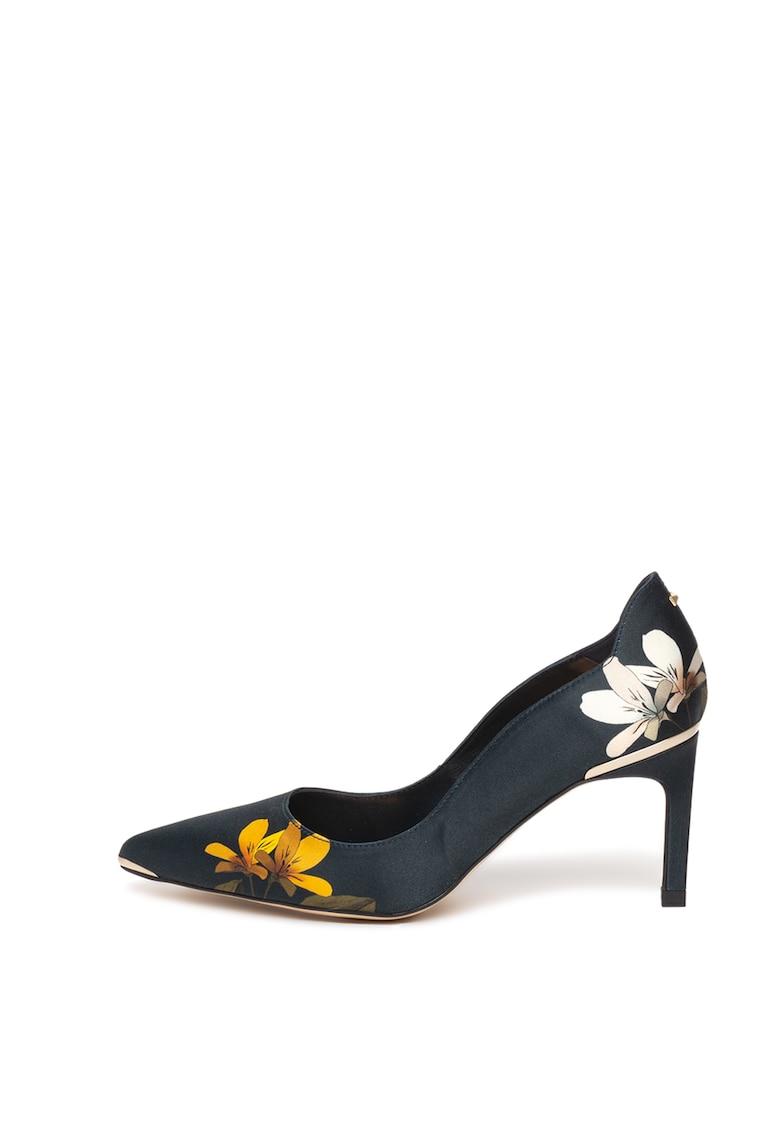 Pantofi cu varf ascutit si imprimeu floral Erinpp