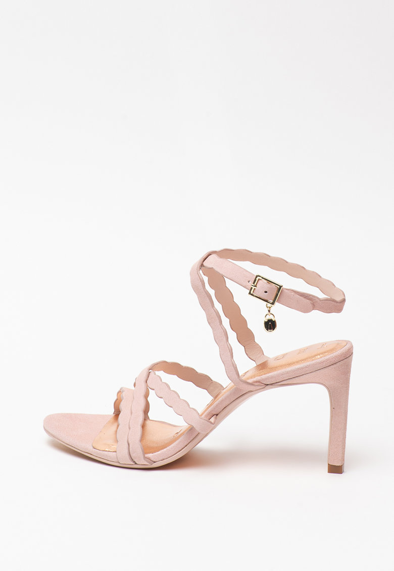 Sandale de piele intoarsa - cu barete multiple Lilly's