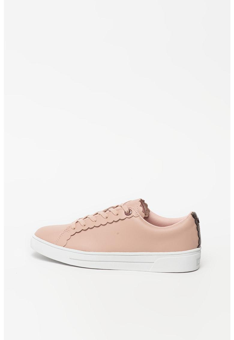 Pantofi sport de piele cu terminatii valurite Tillys