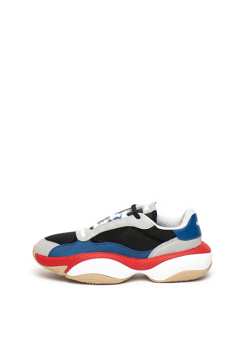 Pantofi sport unisex cu model colorblock si insertii de plasa Alteration Kurve