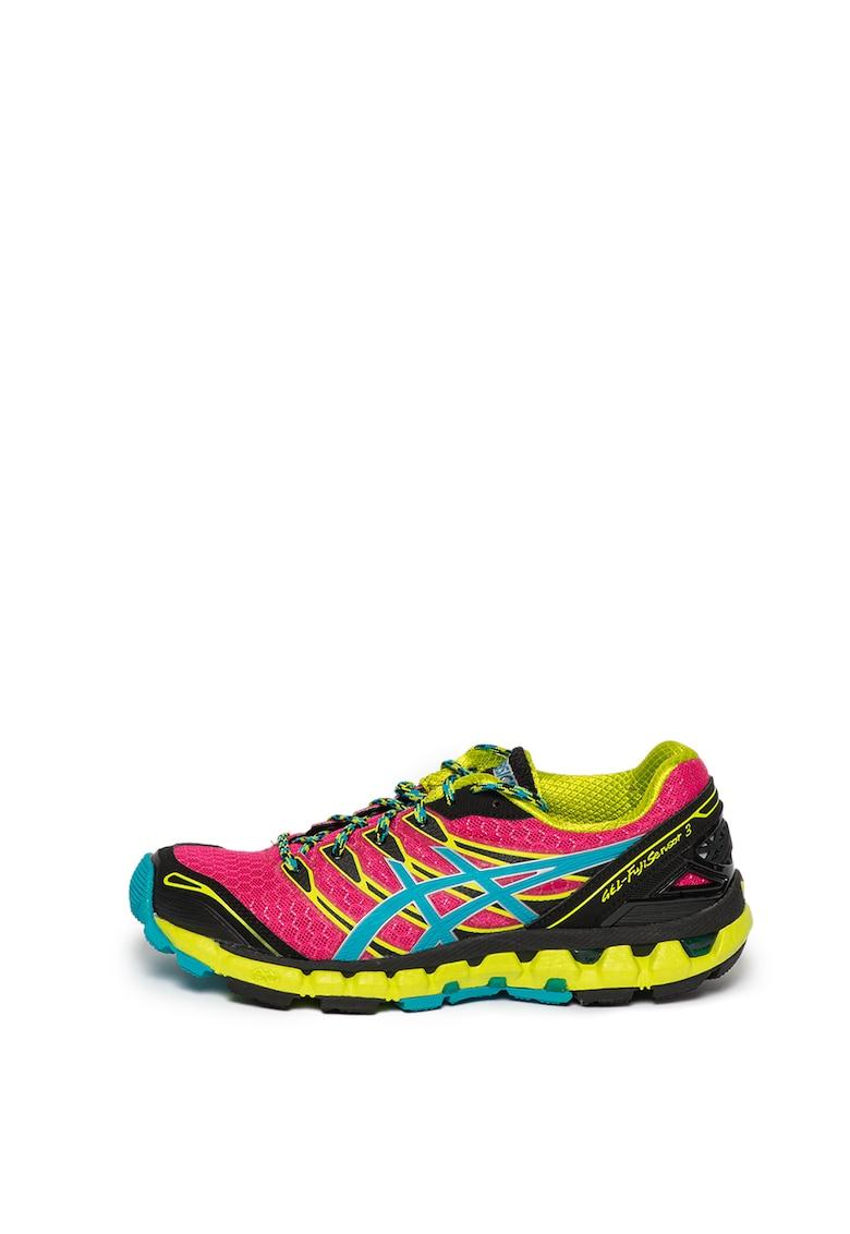 Asics Pantofi cu insertii din plasa - pentru alergare Gel-Fuji Sensor