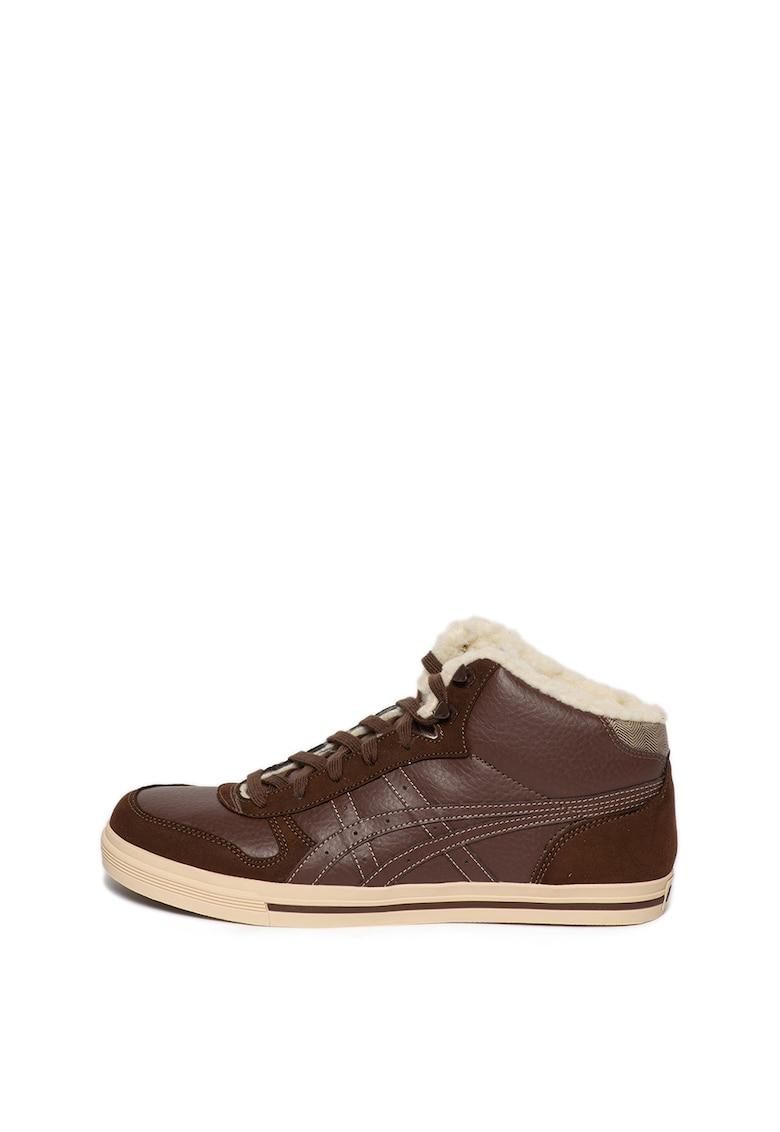 Pantofi sport de piele ecologica cu blana shearling sintetica Aaron