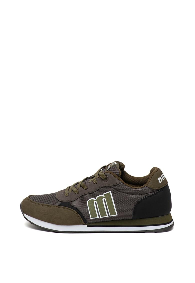 Pantofi sport cu garnituri din piele intoarsa