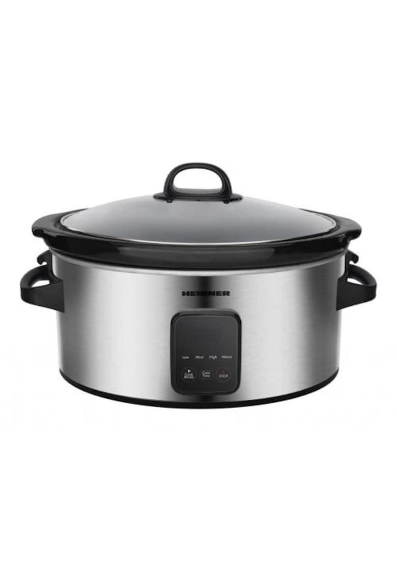 Heinner Slow cooker   - 220 W - 5.7 L - vas ceramic - display LED - timer si 3 setari temperatura - Inox