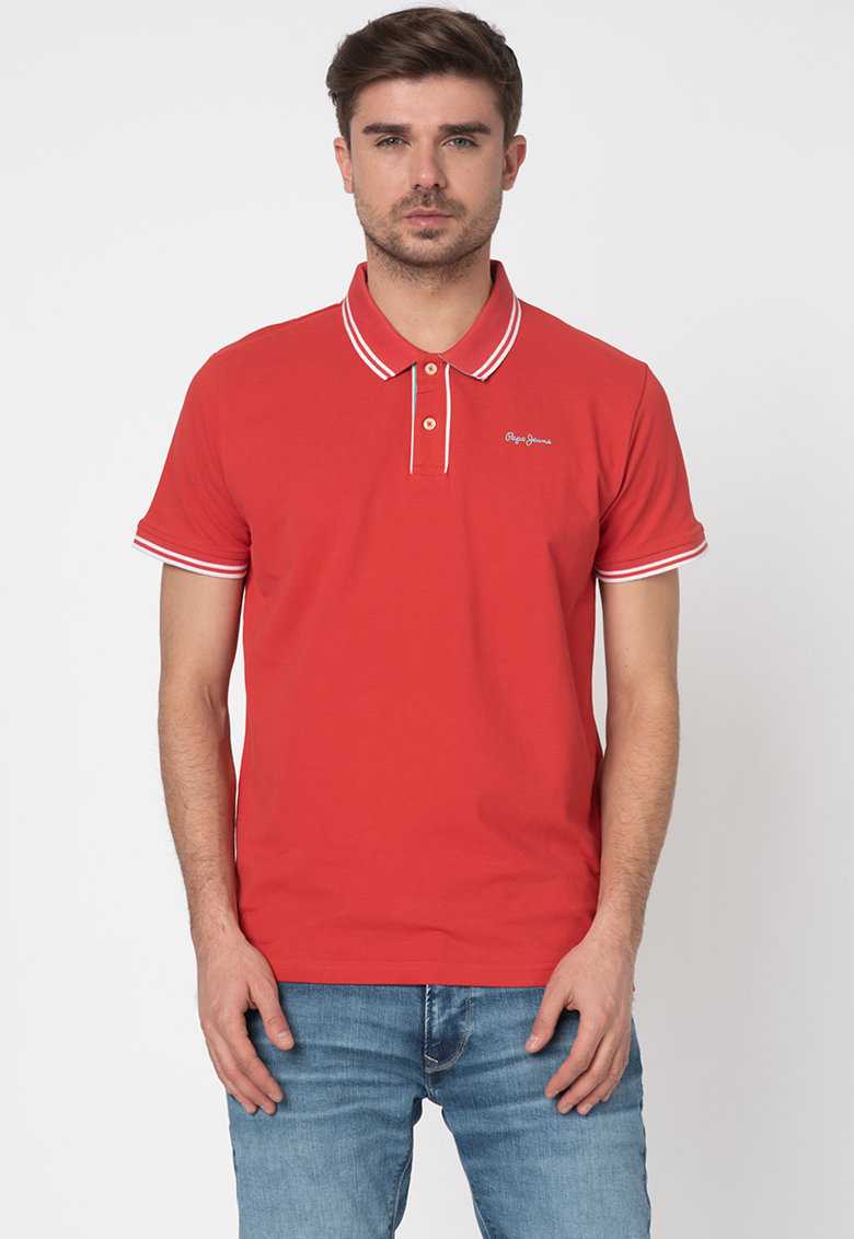 Pepe Jeans London Tricou polo regular fit cu detalii contrastante Mitch