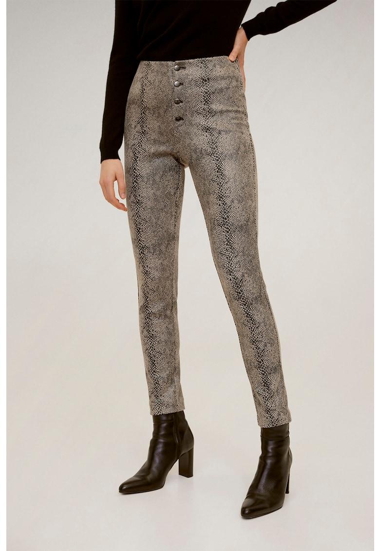 Pantaloni cu model piele de sarpe Snaky