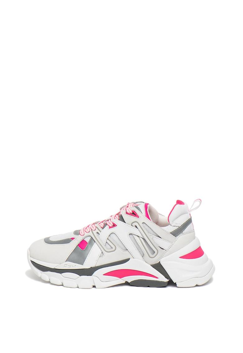 Pantofi sport cu garnituri de piele nabuc Flash