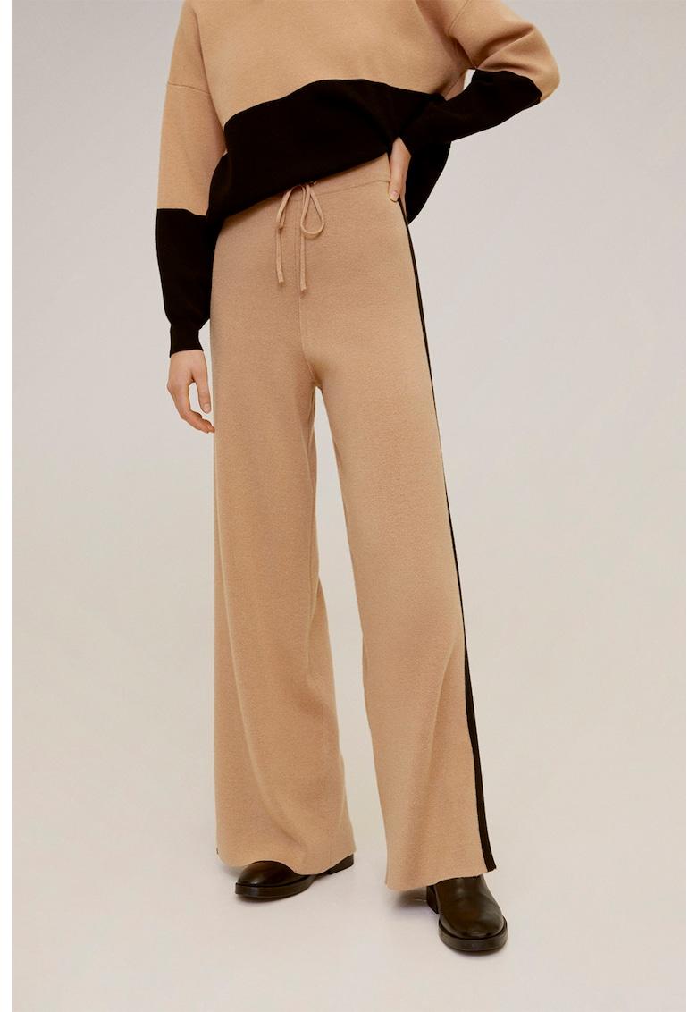 Pantaloni din tricot fin cu croiala ampla Bandy imagine