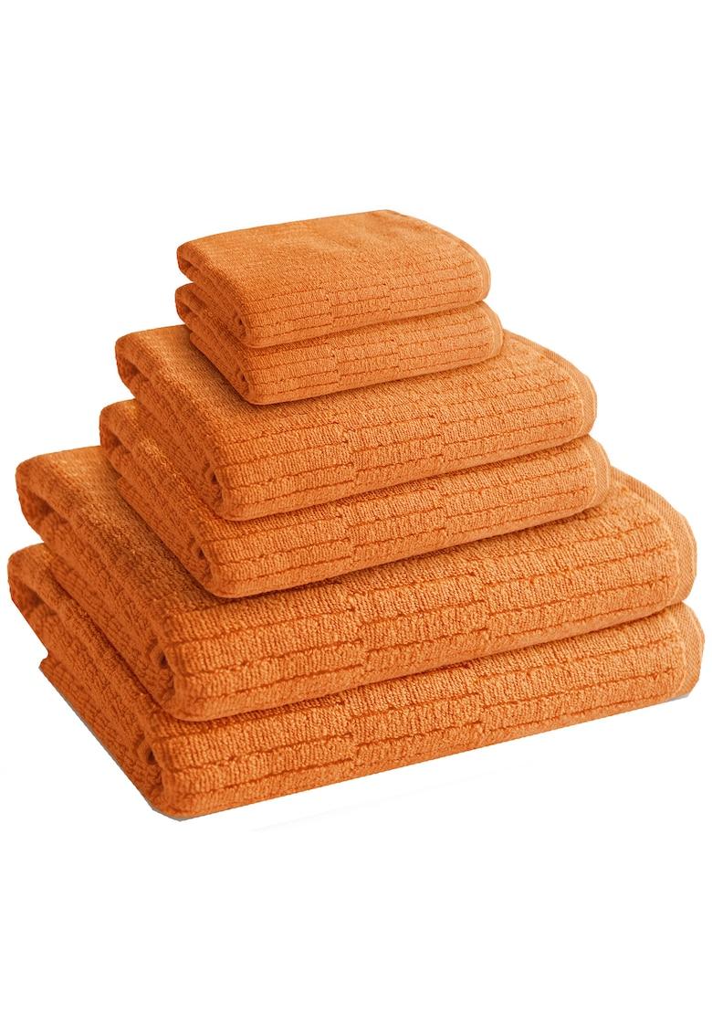 AGLIKA Set 6 prosoape baie Sani Mustard  100% bumbac - 2 x 30x50 / 2 x 50x100 / 2 x 70x140 cm