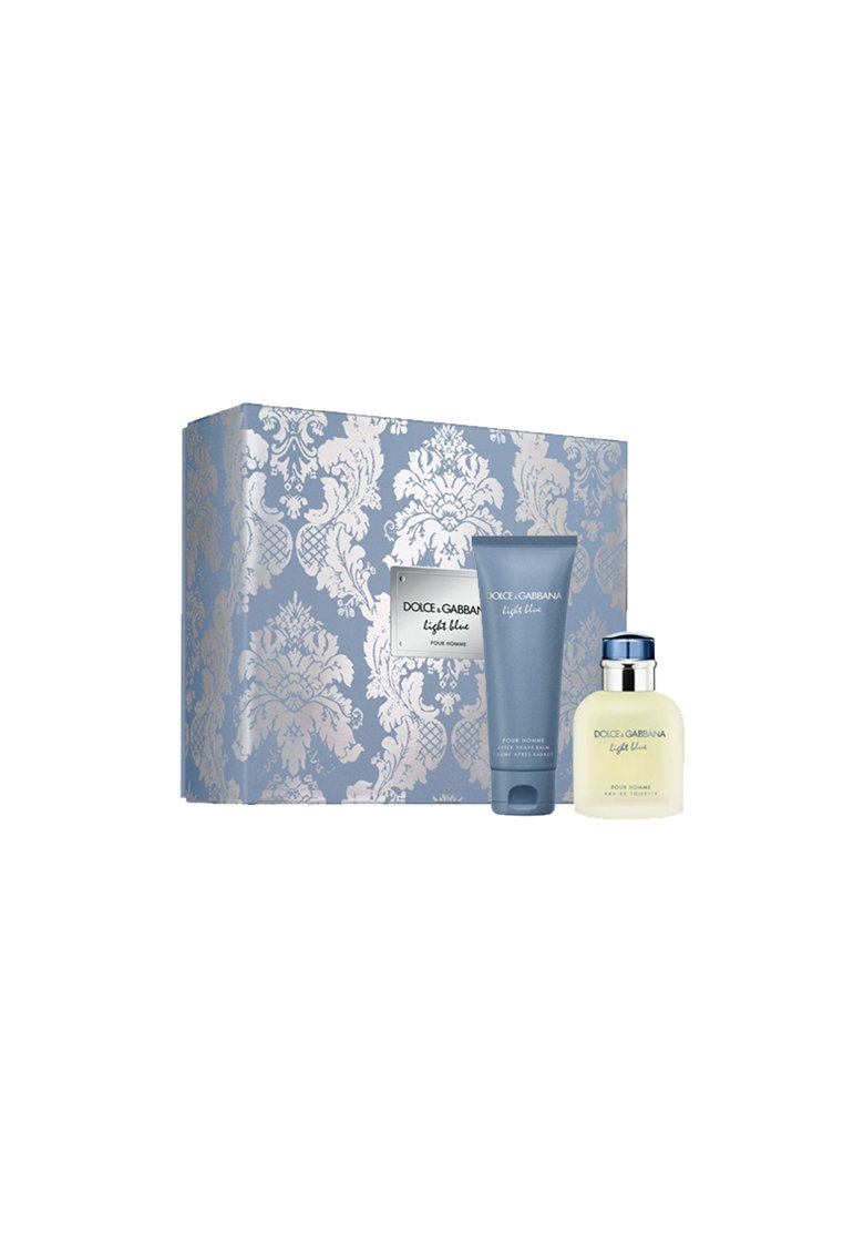 Dolce  Gabbana Set  Light Blue Pour Homme - Barbati: Apa de Toaleta - 75 ml + Balsam After Shave - 75 ml